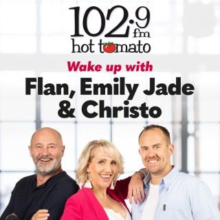 Flan, Emily Jade and Christo on 1029 Hot Tomato