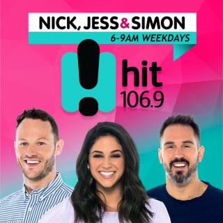 Nick, Jess & Simon - hit106.9 Newcastle