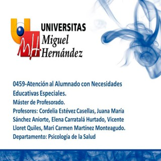 Atención al Alumnado con Necesidades Educativas Especiales (umh0459) Curso 2013 - 2014