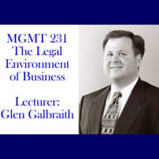 Glen Galbraith's Business Law Lectures