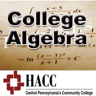 MATH 103: College Algebra - sc