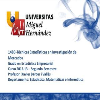 Técnicas Estadísticas en Análisis de Mercados (umh 1480) Curso 2012 - 2013