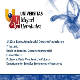 Bases Actuales del Derecho Financiero y Tributario (umh1432sp)