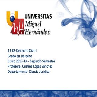 Derecho Civil I (umh1192) Curso 2012 - 2013