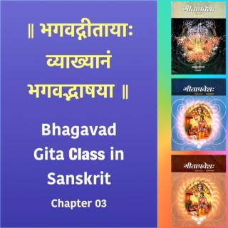 Bhagavad Gita Class (Ch3) in Sanskrit by Dr. K.N. Padmakumar (Samskrita Bharati)