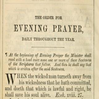 Daily Prayer (BCP 1662)