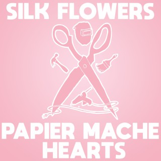 Silk Flowers and Papier Mache Hearts