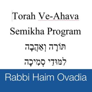 Semikha Program - Torah Ve-Ahava