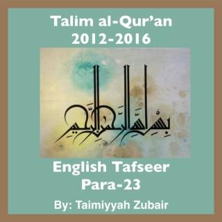 Talim al-Qur'an 2012-16-Para-23