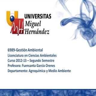 Gestión Ambiental (umh 6989) Curso 2012 - 2013