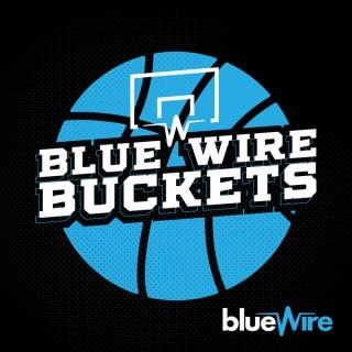 Blue Wire Buckets