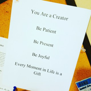 Be Patient, Be Present, Be Joyful