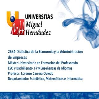 Didáctica de la Economía y la Administración de Empresas (umh 2634) Curso 2014 - 2015