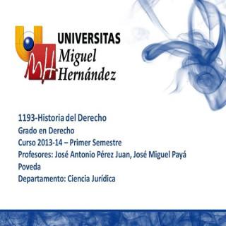 Historia del Derecho (umh1193) Curso 2013 - 2014