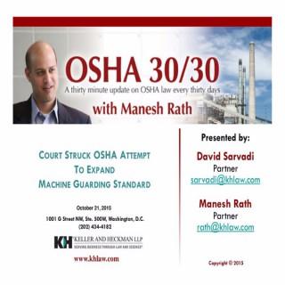 OSHA 30/30 and TSCA 30/30