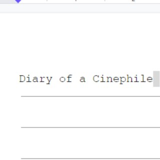 Diary of a Cinephile