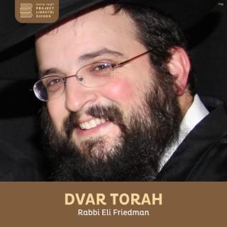 Dvar Torah, Rabbi Eli Friedman