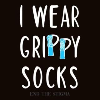 I wear grippy socks
