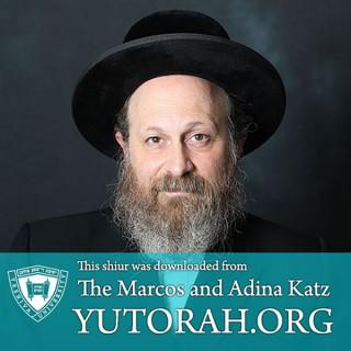YUTORAH: R' Moshe Weinberger -- Recent Shiurim